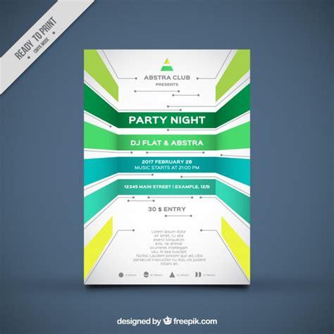 book layout design in coreldraw plantilla de folleto de fiesta con formas geom 233 tricas