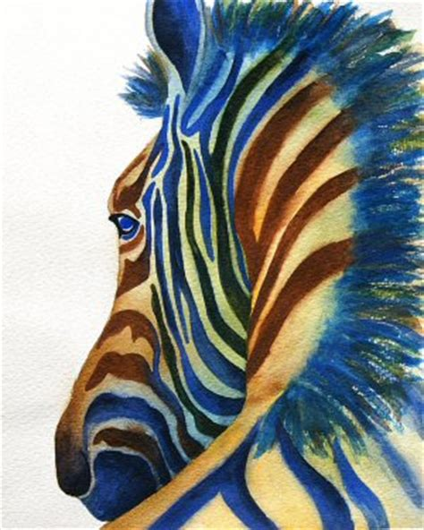 watercolor rainbow zebra i came across a painting of a zeb flickr