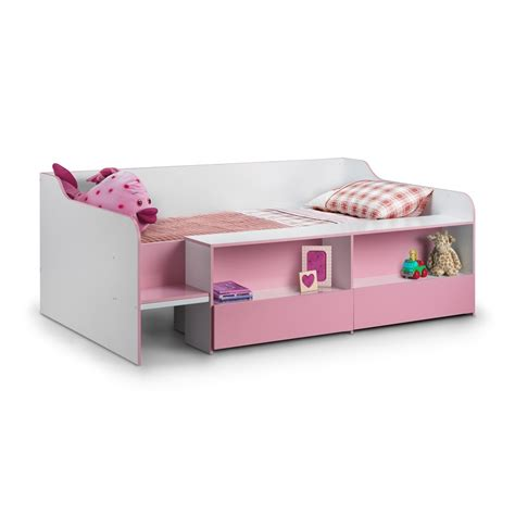 pink kids bed stella low sleep kids bed in pink white girls beds