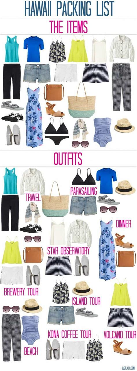 hawaii packing lists printables  outfits  wear