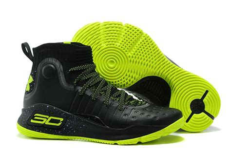 lime green armour basketball shoes black mens armour curry 4 shoes