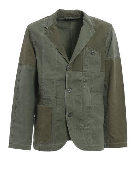 Origianal Denim Ralp patchwork cotton casual jacket by polo ralph