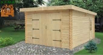garage bois toit plat garage toit plat bois en kit stmb