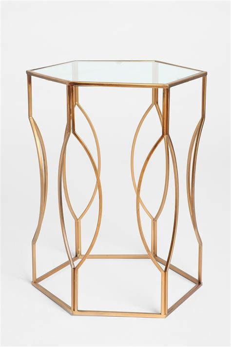 gold and glass end table gold glass end table