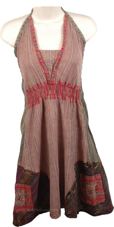 Cotton Blouse 4727 playful summer boho halter top tunic shirt multicoloured new bohemian