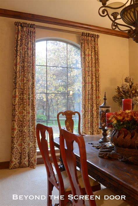 dining room curtain panels window treatments beyond the screen door page 3