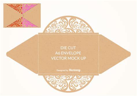 Free Vector Die Cut Envelope Mock Up Download Free Vector Art Stock Graphics Images Free Die Cut Templates