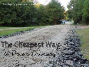 Curb Appeal On A Budget - the cheapest way to pave a driveway lady lee s home
