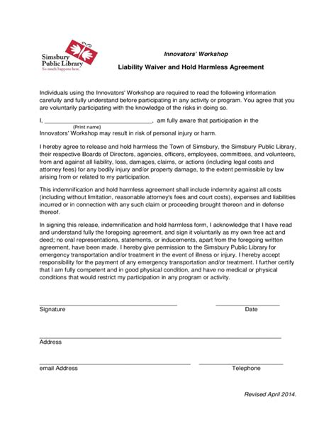 Release And Hold Harmless Letter Hold Harmless Agreement 5 Free Templates In Pdf Word