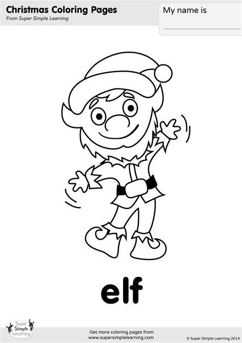 simple elf coloring page elf coloring page super simple