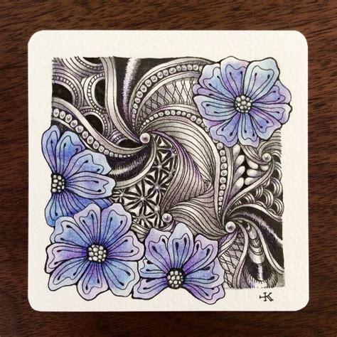 zentangle pattern hamail 278 best zentangles botanical images on pinterest