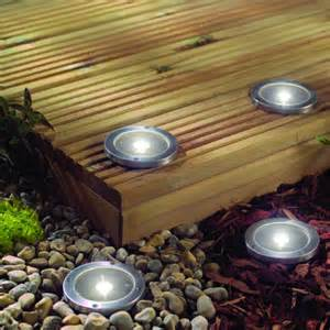 Solar Patio Light Stainless Steel Solar Led Light Deck Ground Lights A Set Of Four Lights Patio Light