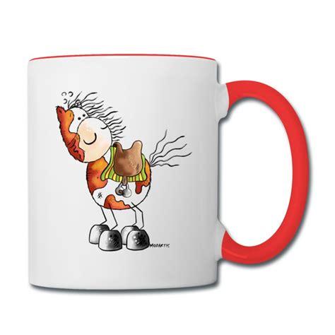 cartoon coffee mug pinto horse western riding cartoon mug spreadshirt