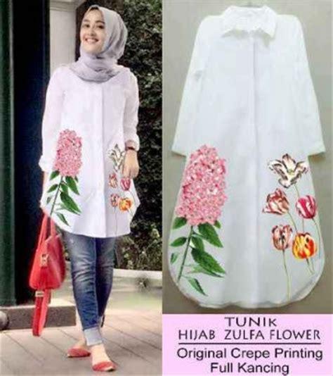 Omny Blouse Baju Atasan Tunic Kemeja Cewek Wanita Lengan Panjang baju muslim atasan wanita model tunik kemeja terbaru