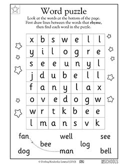 printable reading puzzles kindergarten preschool reading writing worksheets word