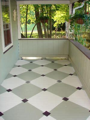 Painted Porch Floor by Painted Porch Floor Yard