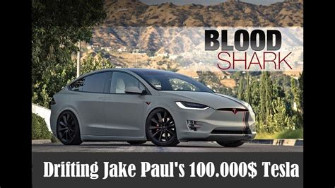 tesla jake paul drifting jake paul s tesla quot bloodshark quot forza horizon
