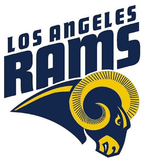 Kaos Sport Football Los Angeles Rams Alternate Logo 2 2016 Pres 1 17 best images about los angeles rams on