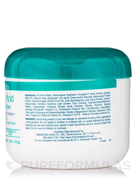 hyaluronic acid moisturizing 4 oz 113 grams
