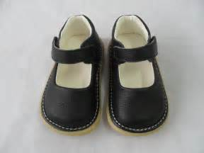 new baby black leather dress squeaky shoes toddler