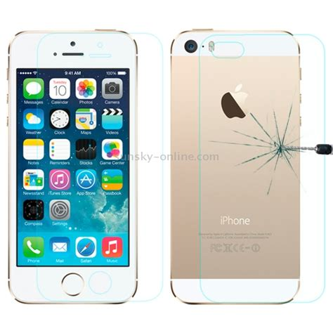 Tempered Glass Ip5s sunsky 0 26mm explosion proof front and back screen