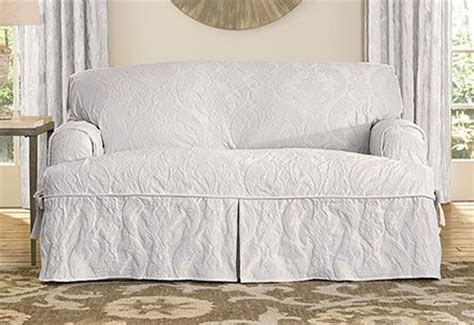 sure fit matelasse damask sofa slipcover sure fit slipcovers matelasse damask one piece t cushion