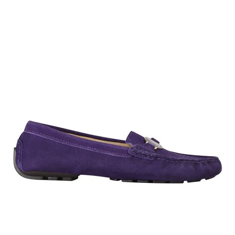 purple loafers for ralph s carley leather loafers