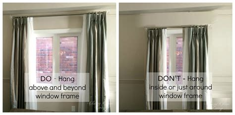 how low should curtains hang how to hang draperies not the dollhouse way classy glam living