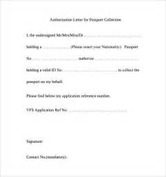 Authorization Letter Format For Collecting Documents Sample Passport Authorization Letter 9 Free Documents