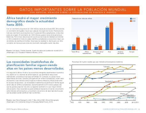 population reference bureau datos de la poblaci 243 n mundial 2013 population reference