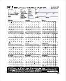 Attendance Calendar Template by 7 Attendance Calendar Templates Free Word Pdf Format