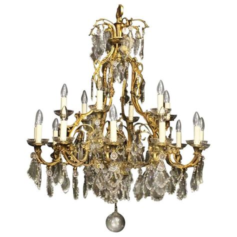 vintage chandelier gilded bronze eighteen light antique chandelier at 1stdibs