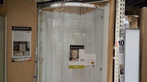 glass shower review   home depot
