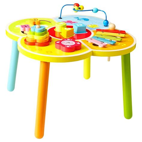 Activity Tables For Babies by Ones Wooden Activity Table Baby Vance