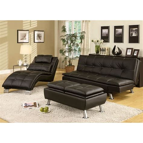 Living Room Sofa Bed Sets by Contemporary Sofa Bed Set Black Coaster Furniture