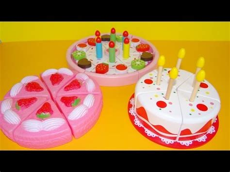 Birthday Cake Cutting Toys by Cutting Velcro Cakes Birthday Cake Wooden Plastic Toys