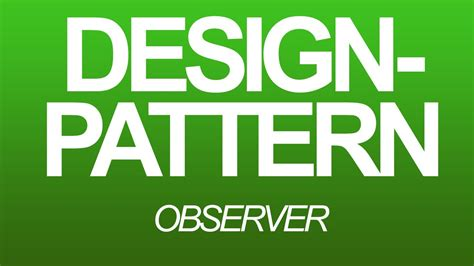 observer design pattern youtube design pattern german observer youtube