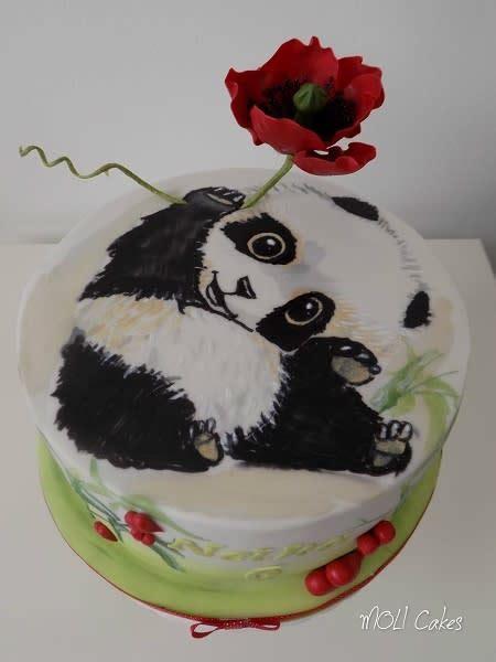 panda  poppy cake  moli cakes cakesdecor