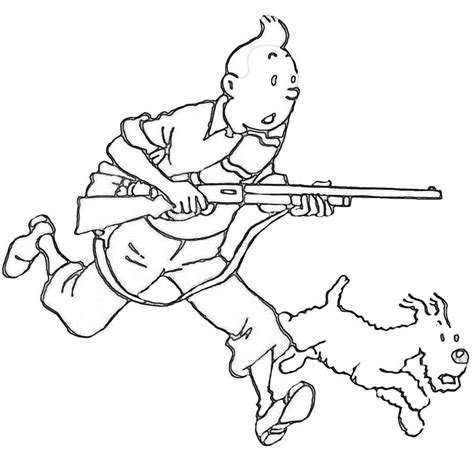Tintin Coloring Pages free coloring pages of tintin