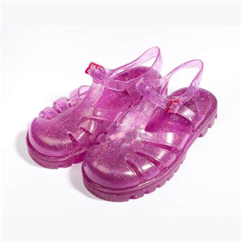 Jelly Shoes Bio raspberry mivi pink glitter jelly shoe shoes