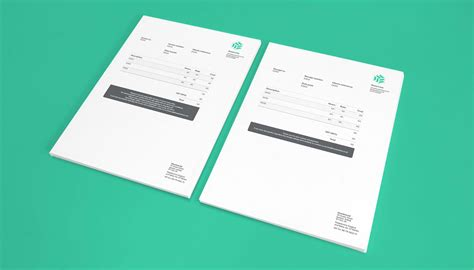 graphic design invoice receipt branding advertising for three me graphic design agency