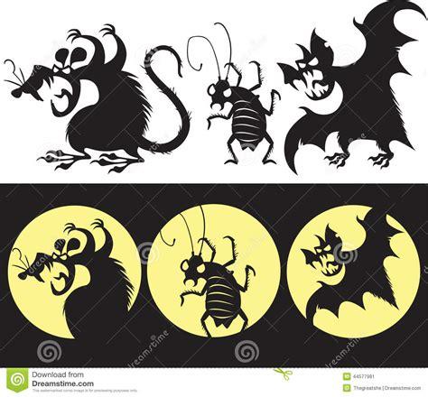 imagenes de ratas halloween sistema de halloween de la silueta enojada de la rata del
