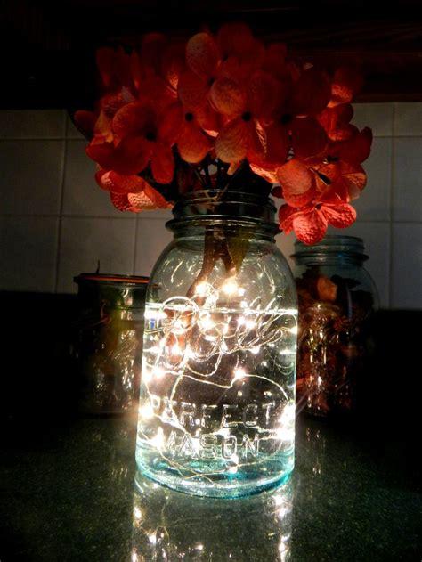 mason jar led lights fireflies in a mason jar led battery operated lighted