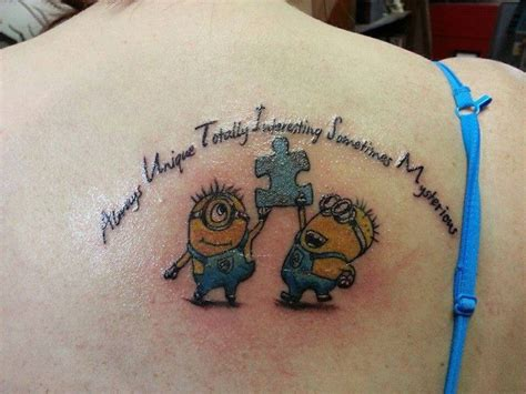 minion tattoo designs minion autism tattoos my