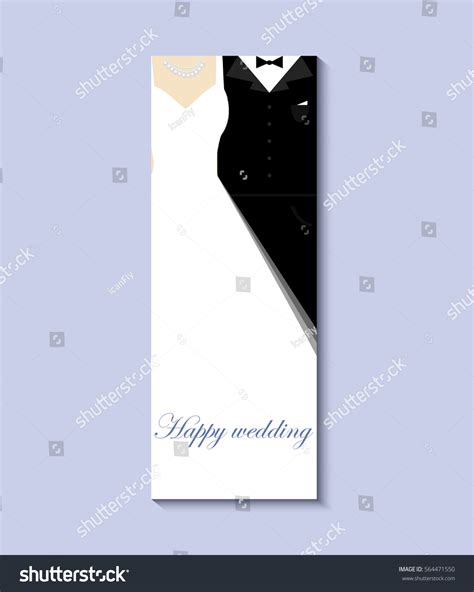 Template For Wedding Card From To Groom by Groom Vector 10 Eps Greeting Stock Vector 564471550
