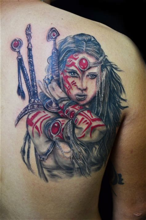 tattoo girl warrior warrior tattoos designs ideas and meaning tattoos for you