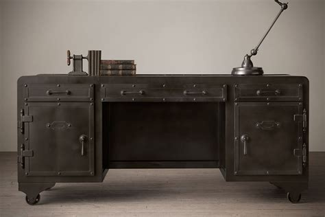 restoration hardware desk impressive looking iron vault desk by restoration hardware