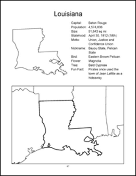 louisiana map coloring page usa maps and the 50 usa states coloring book