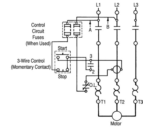 3 wire stop start wiring diagram fuse box and wiring diagram