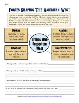 manifest destiny and american expansion worksheet by